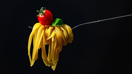 Nudelgericht: Kohlenhydratreiche Kost