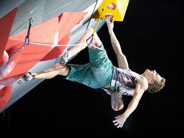 Jakob Schubert gewann bei Heim-WM Goldmedaille im Vorstieg