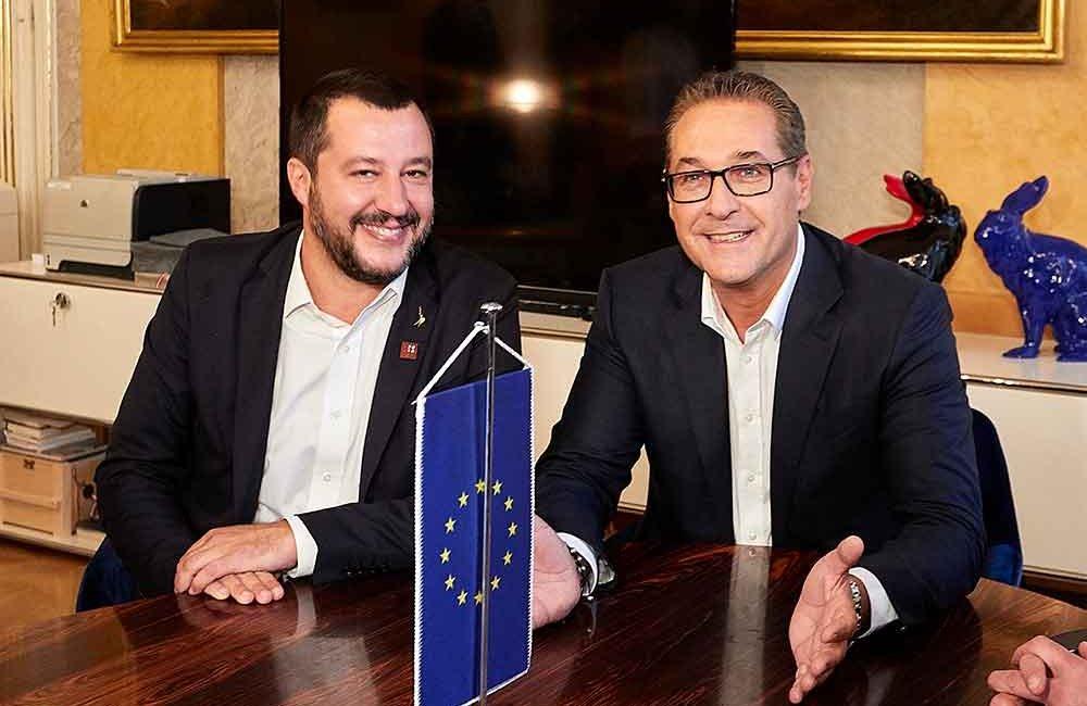 Vizekanzler Heinz-Christian Strache empfing seinen italienischen Amtskollegen Vize-Premier und Innenminister Matteo Salvini zu Gesprächen in Wien