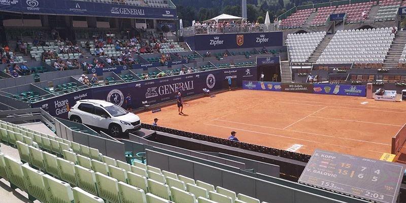 Sandro Kopp in der Qualifikation der Generali Open in Kitzbühel
