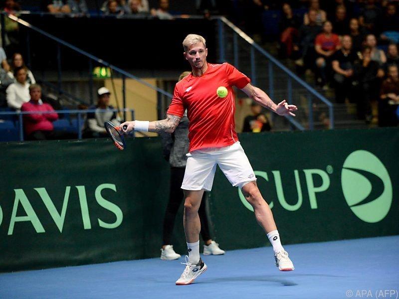 Dennis Novak avancierte zum Davis-Cup-Helden des ÖTV