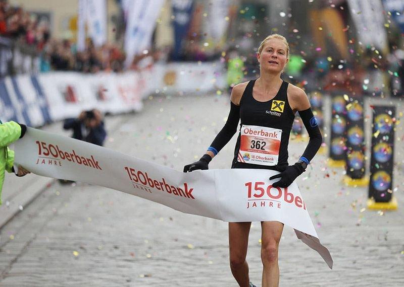 Cornelia Moser gewann die Marathon-Staatsmeisterschaft in Linz