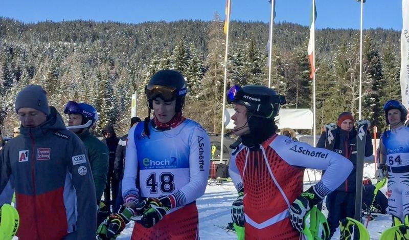 Der Kärntner Adrian Pertl hat am Montag einen FIS-Slalom auf der Seewaldalm in Seefeld gewonnen und musste sich im zweiten Slalom nur dem Weltcup-Fahrer Filip Zubcic geschlagen geben