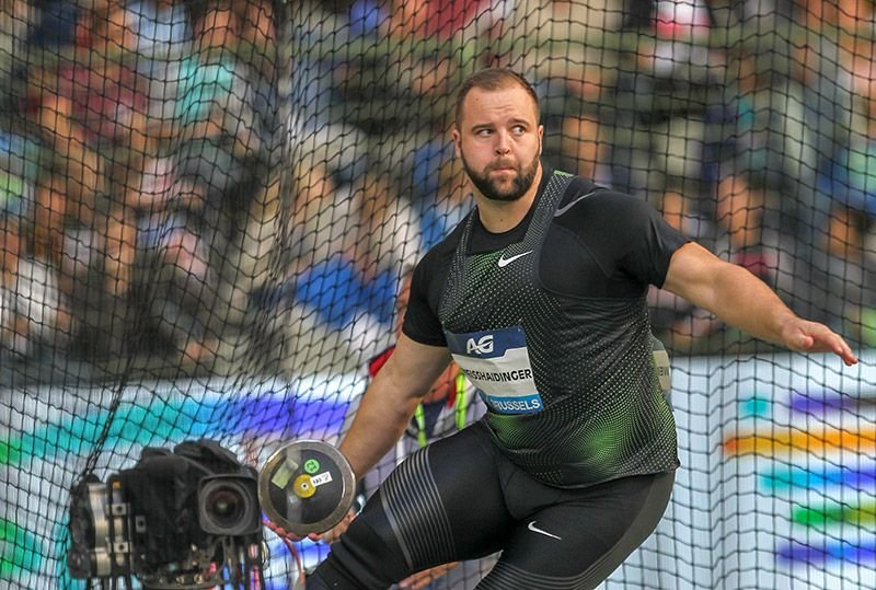 Lukas Weißhaidinger beim IAAF Diamond League 2018 in Brüssel