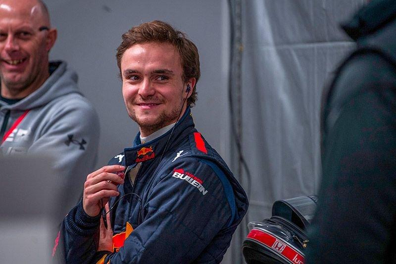 Lucas Auer während des Super Formula Rookies Test in Suzuka, Japan im Dezember 2018