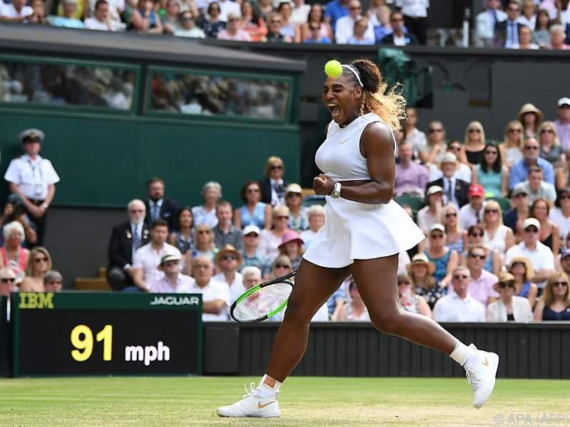 Serena Williams jubelt über ihren elften Finaleinzug in Wimbledon