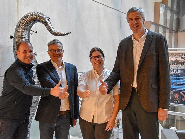 Dietmar Brückl, Herbert Waltl, Pia Schorer und Hannes Haid