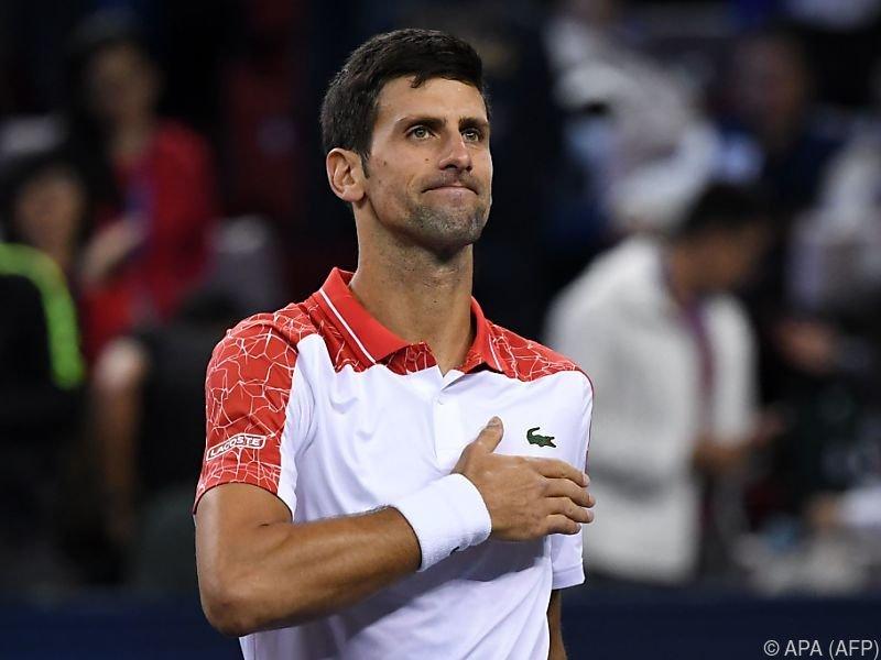 Djokovic ist mit seinem Auftritt zufrieden