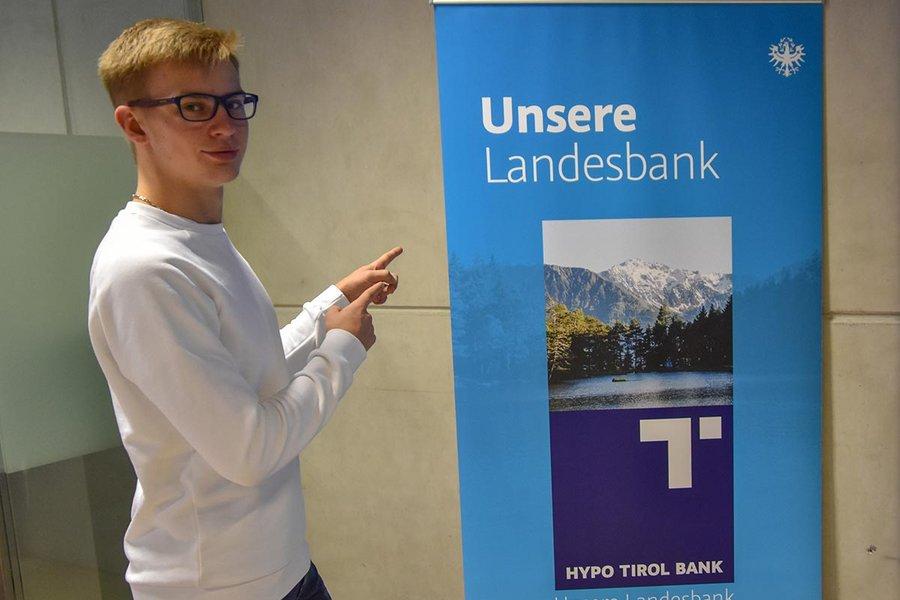 Julian Schubert erreichte beim HYPO Tirol U25 Voting den 3. Platz