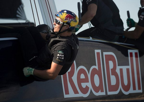 Das Team Red Bull Sailing in Action vor Los Cabos während der Extreme Sailing Series 2018
