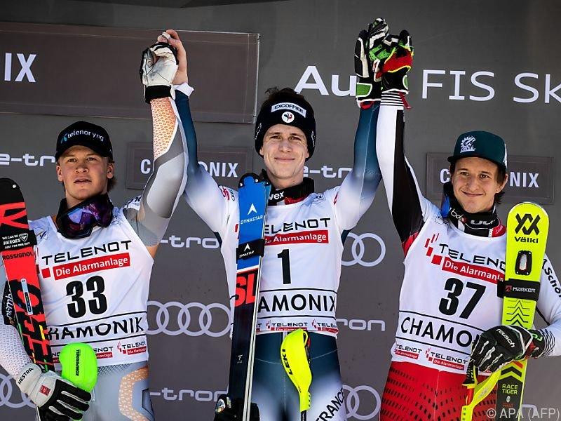 Slalom-Podest in Chamonix