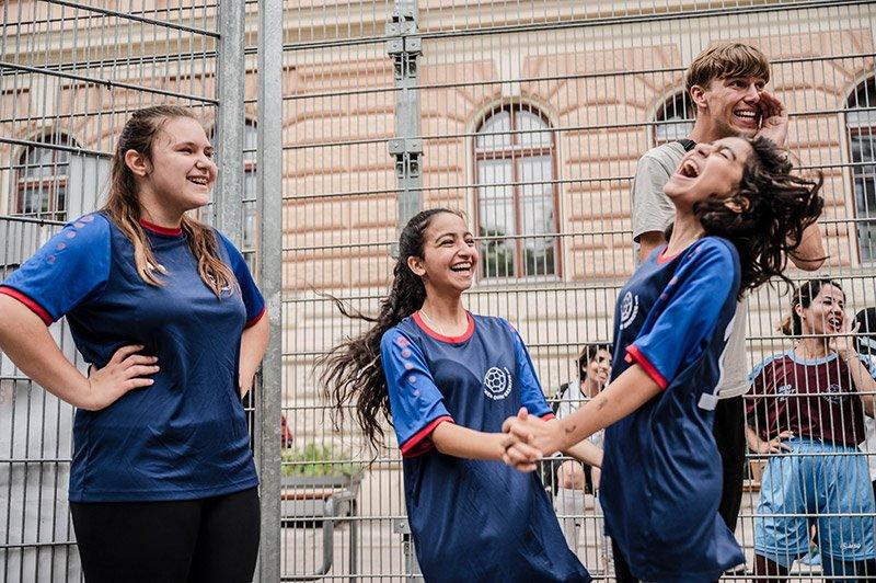 Große Begeisterung beim Girls Cup am Henriettenplatz