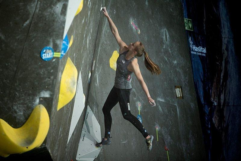 Jessica Pilz beim Weltcup in Meiringen
