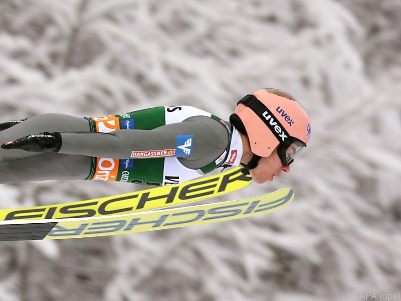 Schlussspringer Stefan Kraft fixierte den Sieg