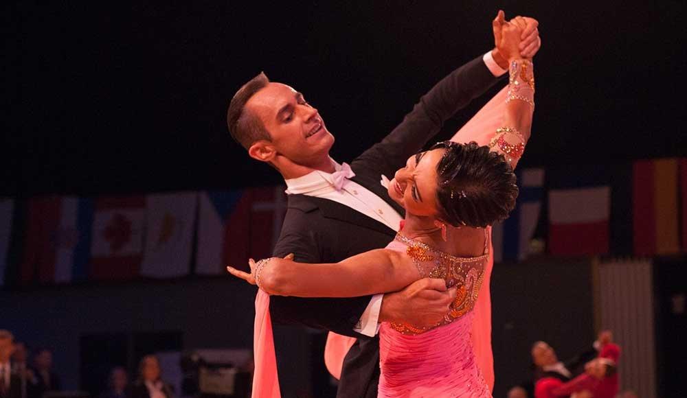 Klemens Hofer und Barbara Westermayer belegten in den Standardtänzen Rang 12