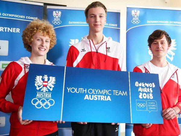 Österreichs 41-köpfiges Athletenteam für die Olympischen Jugendspiele in Buenos Aires flog am Dienstagabend von Schwechat ab