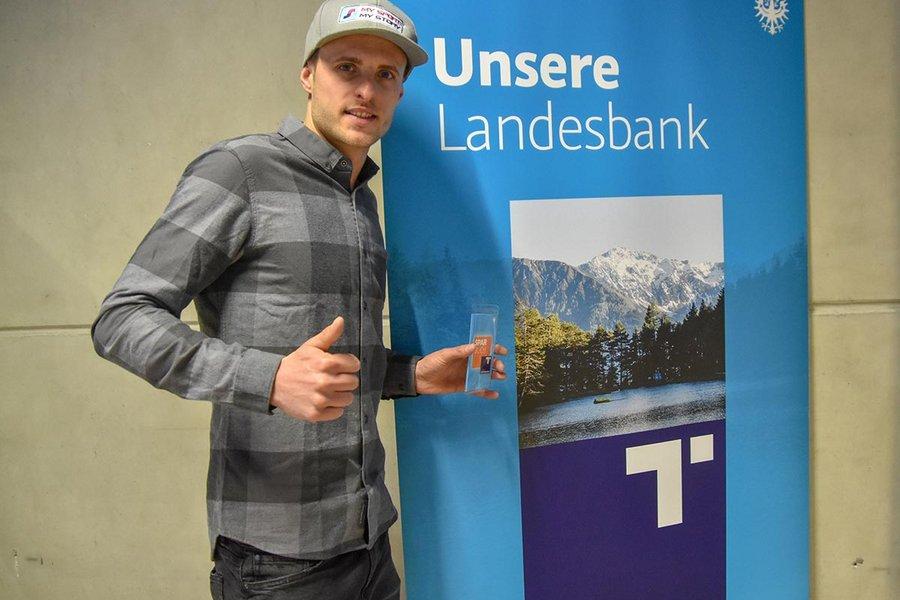 Fabian Kaufmann erreichte beim HYPO Tirol U25 Voting den 2. Platz