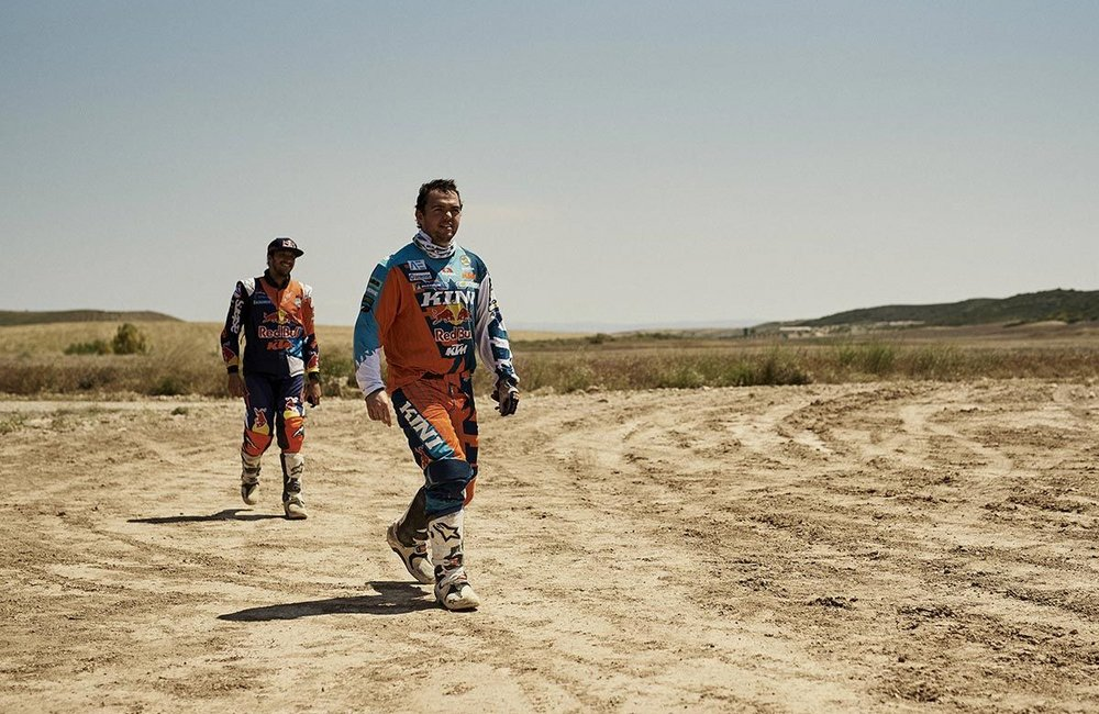 Matthias Walkner beim KTM Factory Racing Team Test in Zaragoza, Spanien