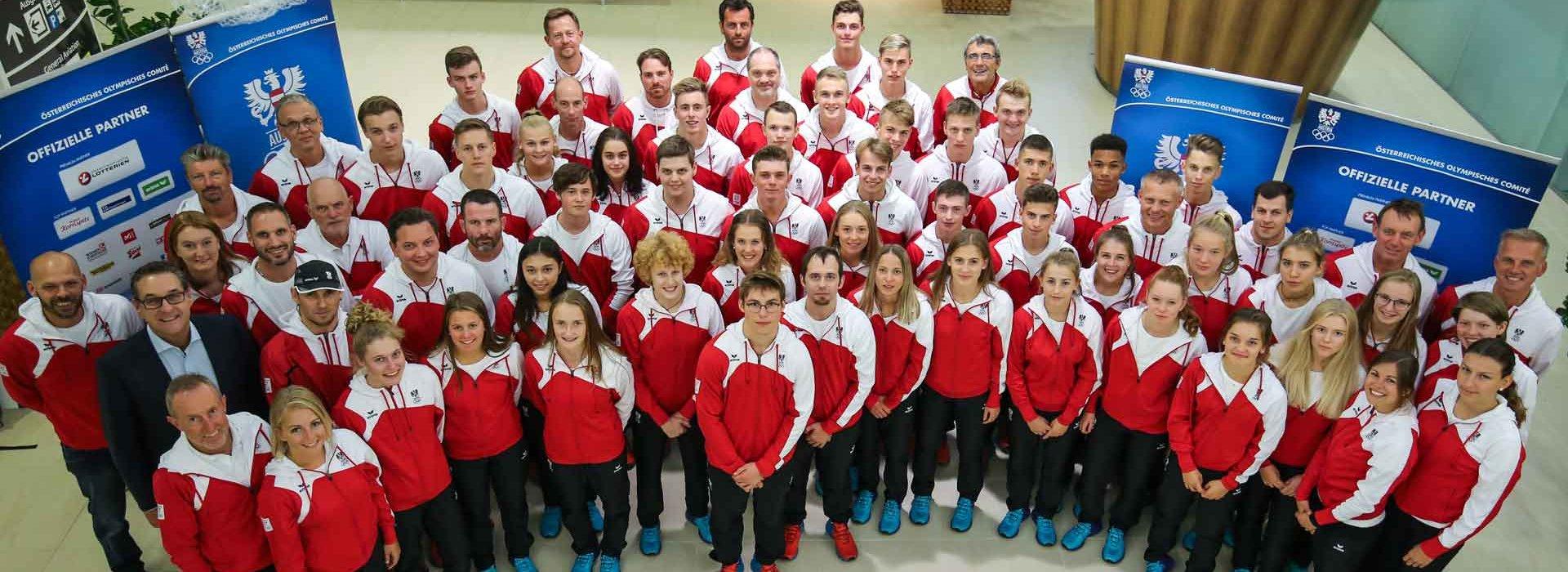 Das Youth Olympic Team Austria ist in Buenos Aires mit 21 Mädchen und 20 Burschen in insgesamt 13 Sportarten mit Sportminister Heinz Christian Strache