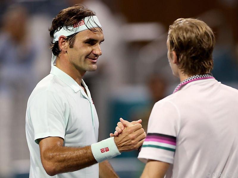 Federer besiegte den Kanadier Denis Shapovalov