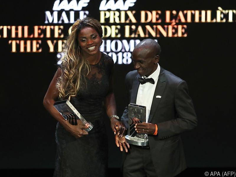 Caterine Ibarguen und Eliud Kipchoge wurden in Monaco ausgezeichnet