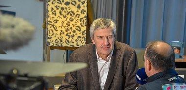 Hannes Haid, Vorstandsmitglied der HYPO Tirol im Gespräch mit Dietmar Brückl