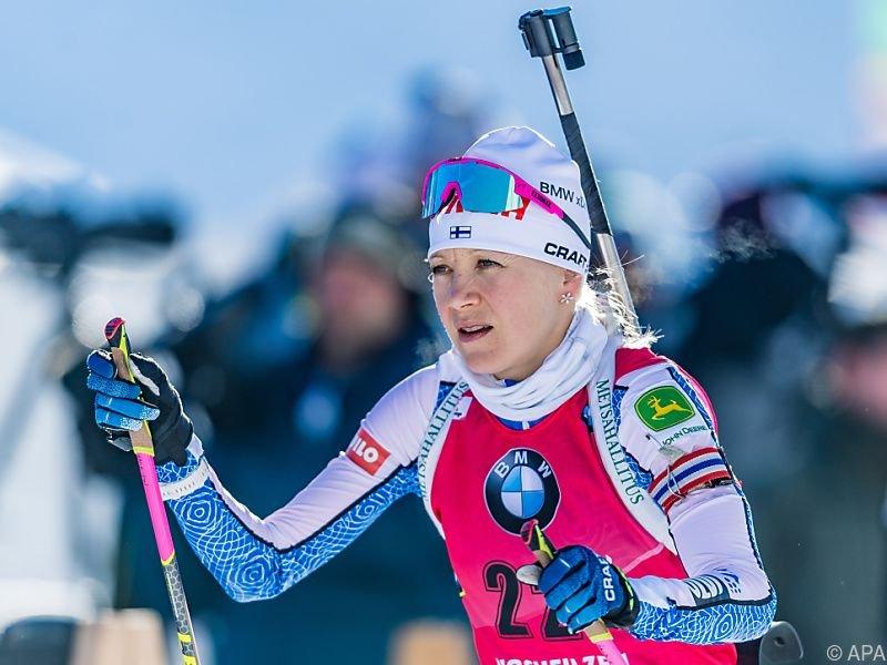 Die Finnin gewann vor Paulina Fialkova (SVK) und Dorothea Wierer (ITA)