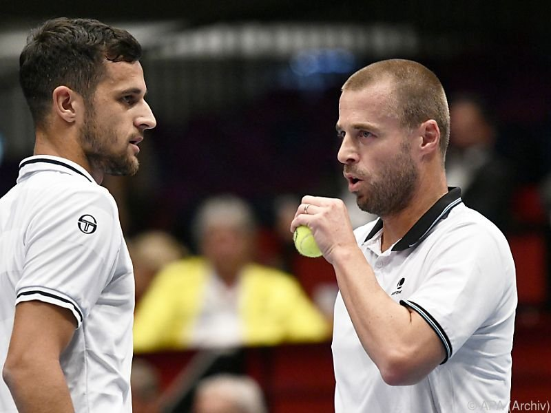 Marach (r.) und Pavic sitzen auf dem Tennisthron