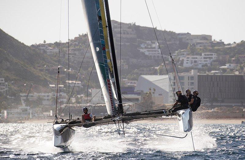 Das Team Red Bull vor Los Cabos während der Extreme Sailing Series 2018