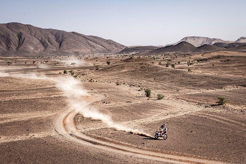 Matthias Walkner bei der 3. Etappe der Marokko-Rallye