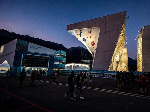 Ansicht der Wand während der IFSC Climbing World Championships 2018