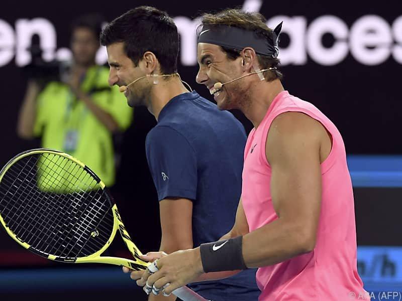 Die beiden Größen des Tennissports streuen Thiem Rosen