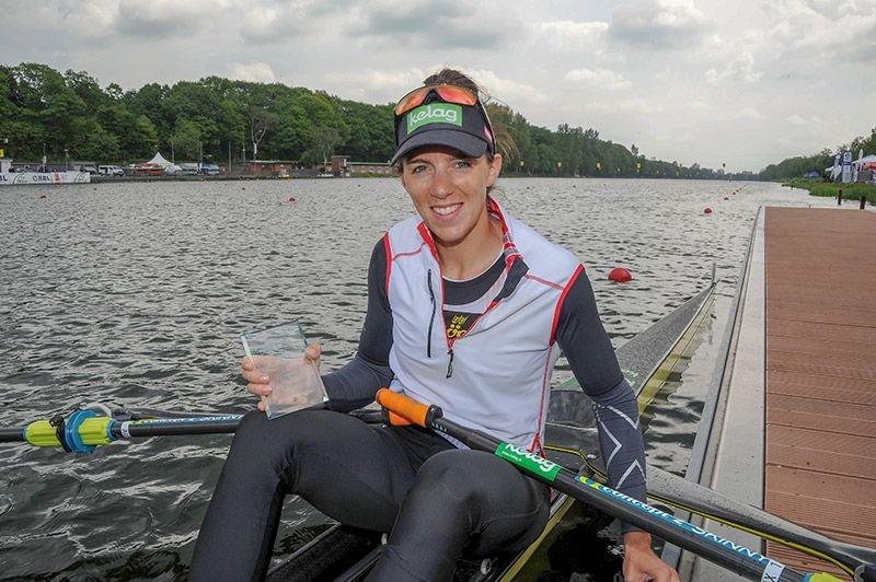Magdalena Lobnig feiert Sieg im Damen Einer