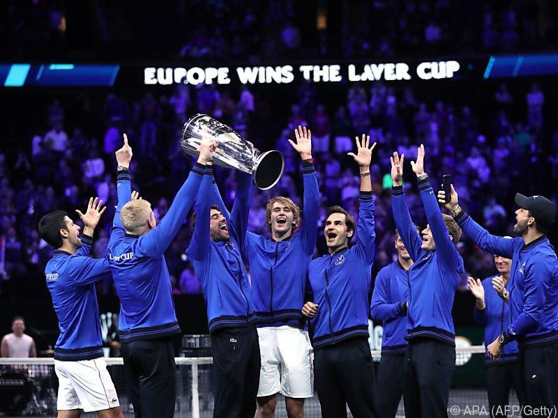 Team Europa jubelt über den Sieg