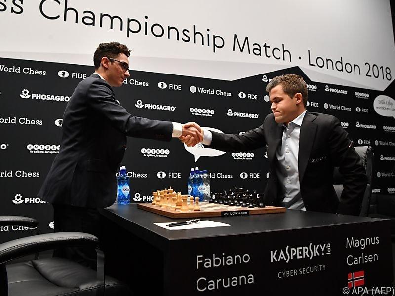 Fabiano Caruana und Magnus Carlsen duellieren sich in London