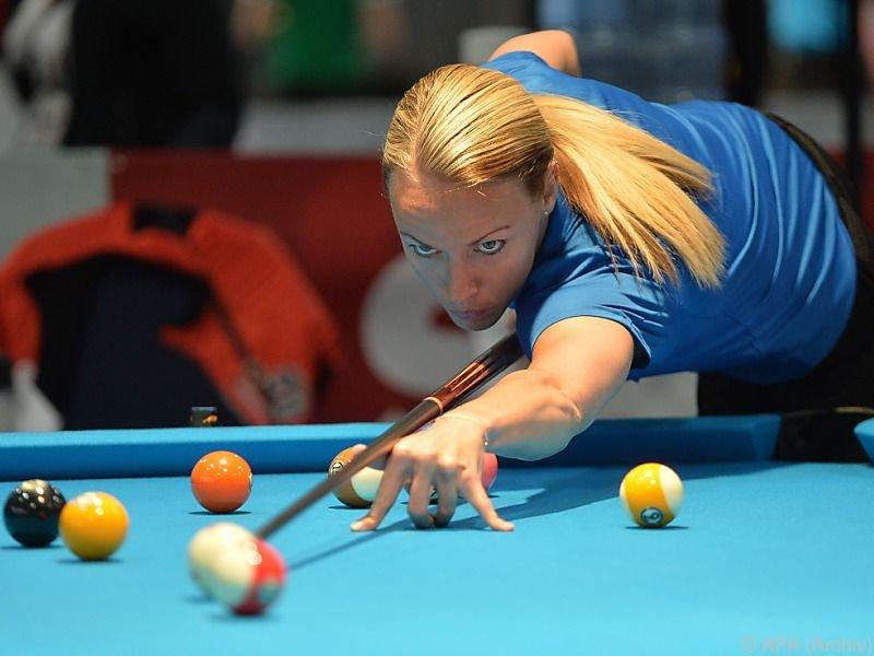 Jasmin Ouschan knapp an zweitem WM-Titel vorbei