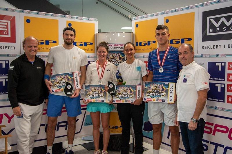 Daniel Brands, Oana Simoni, Aleksandrina Naydenova und Alexander Erler beim WTP Masters Cup in Seefeld
