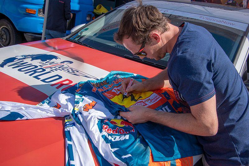 Verlosung Fan Shirts signiert von Matthias Walkner