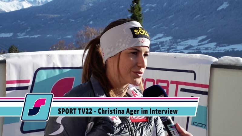 SPORT TV22: Skifahrerin Christina Ager im Interview