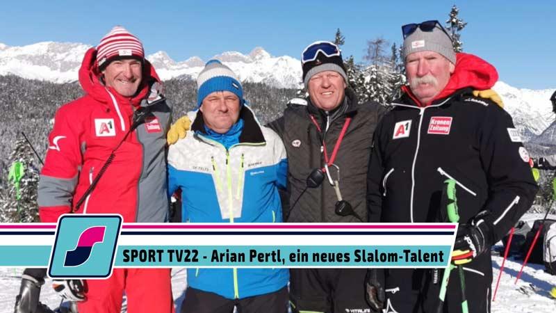 SPORT TV22: Adrian Pertl, sensationell von der Seewaldalm auf den Ganslernhang in Kitzbühel