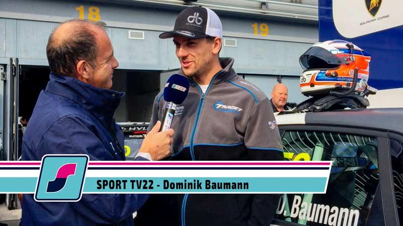 Sport TV22: Rennfahrer Dominik Baumann im Gespräch