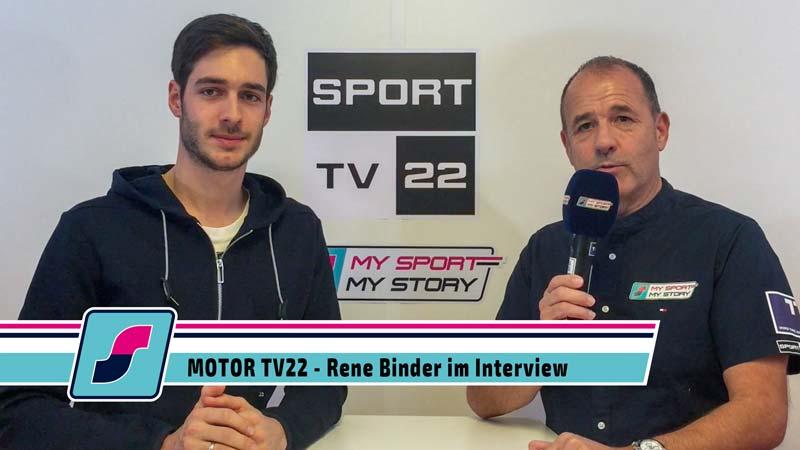 Rennfahrer Rene Binder im Interview