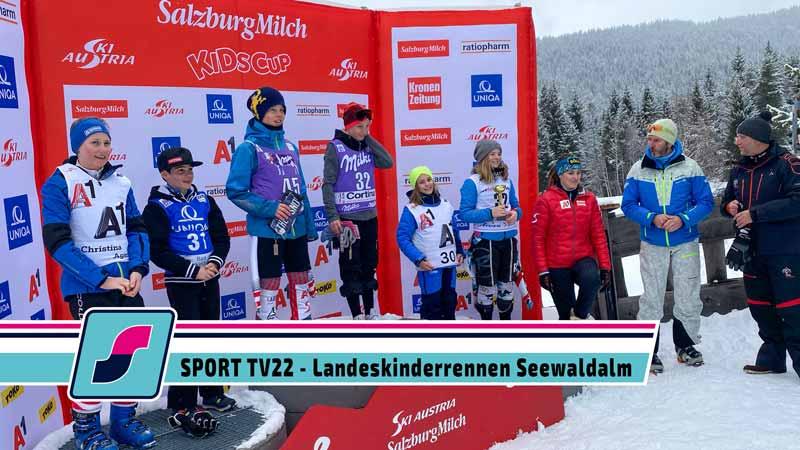 SPORT TV22: Erstes Rennen des SalzburgMilch Kids Cup auf der Seewaldalm