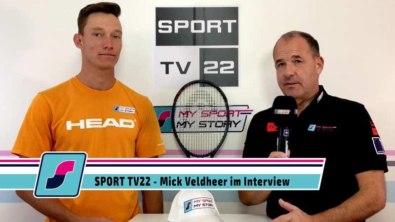 Tennisspieler Mick Veldheer im Interview