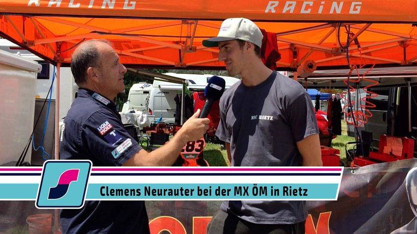 Clemens Neurauter bei der Motocross Staatsmeisterschaft in Rietz 2019
